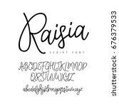 fashionable modern vector font... | Shutterstock .eps vector #676379533