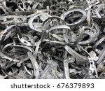 Small photo of Scrap of aluminum alloy, alumiium alloy waste, dross, Aluminum alloy waste for recycle