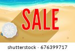 sale  big letters with long...   Shutterstock .eps vector #676399717