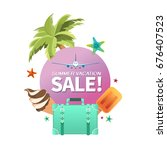 summer holiday vacation cool... | Shutterstock .eps vector #676407523