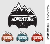 mountain explorer adventure... | Shutterstock .eps vector #676407943