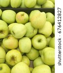 Small photo of green apple harvest. many apples. fresh apples. apples for shop