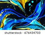 abstract watercolor texture.... | Shutterstock . vector #676434703