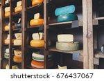 Cheese Shop Shelves. Assortmen...