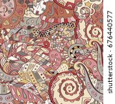 tracery seamless pattern.... | Shutterstock .eps vector #676440577