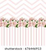 vintage roses floral card... | Shutterstock .eps vector #676446913