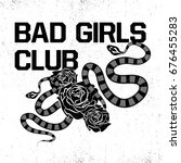 bad girls club fashion slogan... | Shutterstock .eps vector #676455283