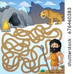 maze 31 with prehistoric... | Shutterstock .eps vector #676460383