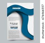 blue flyer vector design... | Shutterstock .eps vector #676466557