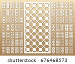 die cut card. laser cut 70 ... | Shutterstock .eps vector #676468573