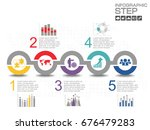 5 steps of timeline... | Shutterstock .eps vector #676479283