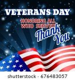 a veterans day background with... | Shutterstock .eps vector #676483057