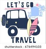 travel car illustration vector... | Shutterstock .eps vector #676494103