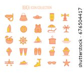 beach icons collection | Shutterstock .eps vector #676504417