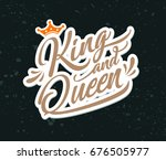 hand lettering with word king... | Shutterstock .eps vector #676505977