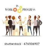 work in progress concept with...   Shutterstock .eps vector #676506907