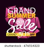 summer sale vector banner... | Shutterstock .eps vector #676514323