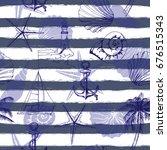 hand drawn vector illustrations ... | Shutterstock .eps vector #676515343