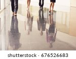 low section of business people... | Shutterstock . vector #676526683