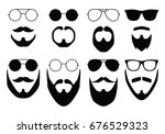 mustache and glasses | Shutterstock .eps vector #676529323