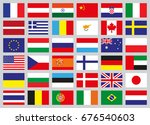 set of flags of different...