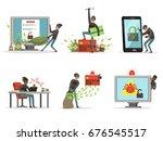 cartoon illustrations of... | Shutterstock .eps vector #676545517