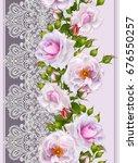 seamless pattern border.... | Shutterstock . vector #676550257