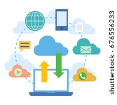 web banners for cloud computing ... | Shutterstock . vector #676556233