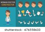 constructor character woman... | Shutterstock .eps vector #676558633