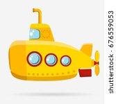 yellow submarine with periscope ... | Shutterstock . vector #676559053