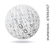 abstract binary ball  vector... | Shutterstock .eps vector #676561417