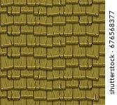 cartoon green wooden old... | Shutterstock .eps vector #676568377