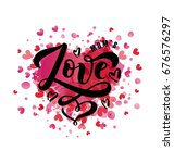 vector illustration of love... | Shutterstock .eps vector #676576297