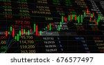 stock market candlestick graph... | Shutterstock . vector #676577497