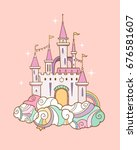 vector illustration with fairy... | Shutterstock .eps vector #676581607