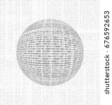 abstract binary ball  vector... | Shutterstock .eps vector #676592653