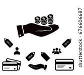 money in hand icon  vector best ... | Shutterstock .eps vector #676606687