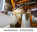 the centrifugal pump install on ... | Shutterstock . vector #676612633