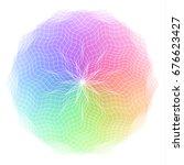 spectrum  color wheel with...   Shutterstock .eps vector #676623427