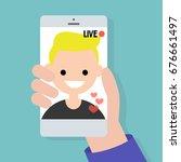 live stream. live translation... | Shutterstock .eps vector #676661497