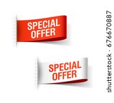 special offer ribbon  red and...   Shutterstock .eps vector #676670887