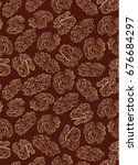 seamless texture with doodle... | Shutterstock .eps vector #676684297