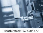 cnc lathe machine  turning... | Shutterstock . vector #676684477
