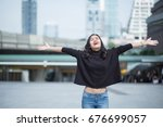 young  beautiful woman in the... | Shutterstock . vector #676699057