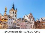 historic house facades main... | Shutterstock . vector #676707247