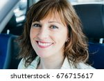 attractive and happy middle... | Shutterstock . vector #676715617