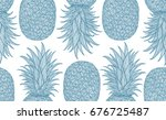hand drawn pattern with... | Shutterstock .eps vector #676725487