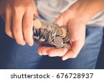 save money for investment... | Shutterstock . vector #676728937