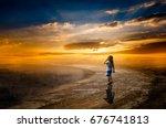 beautiful morning sunrise | Shutterstock . vector #676741813