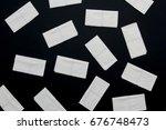 paper napkins on black... | Shutterstock . vector #676748473